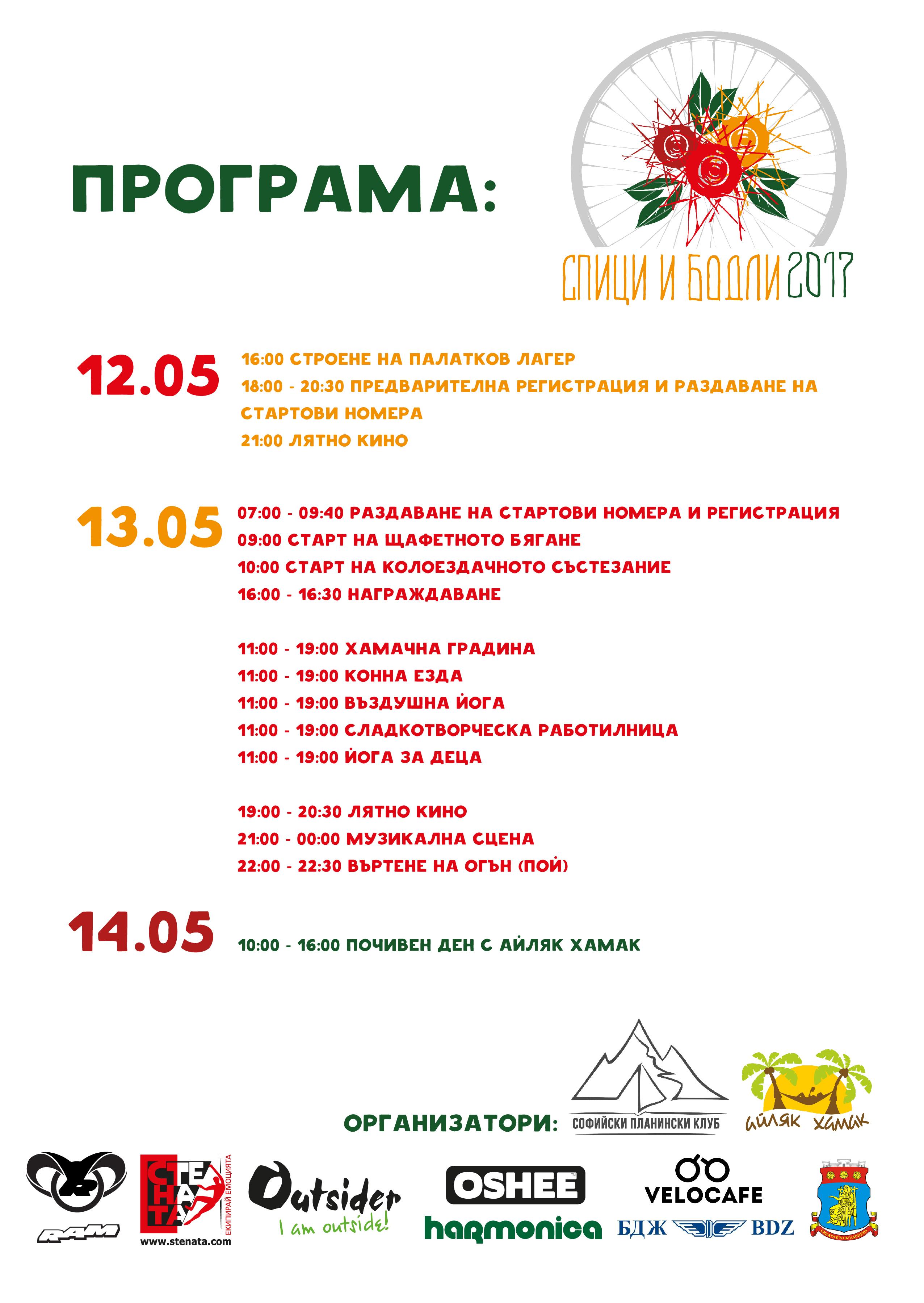 """Второто издание на състезанието """"Спици и бодли"""" ще се проведе на 13-ти май 2017 г."""