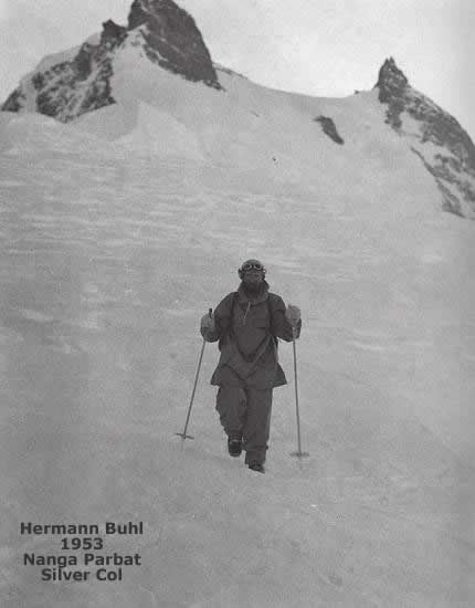Херман Бул на Нанга Парбат 1953 г.